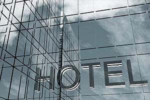 Insegna di un Hotel di lusso con wi-fi hotel.