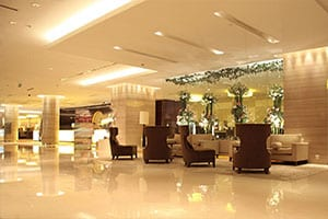 Veduta della hall di un Grande Albergo. con sistema wi-fi hotel