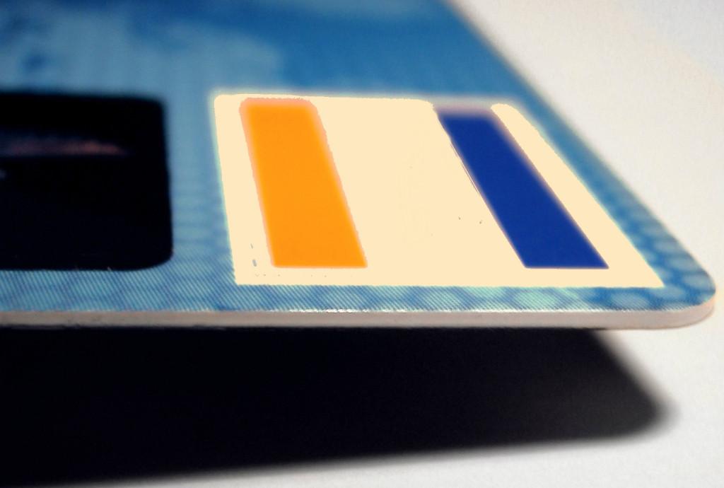 Una carta di credito utilizzabile per accedere al sistema Wi-Fi a pagamento di un hotel.