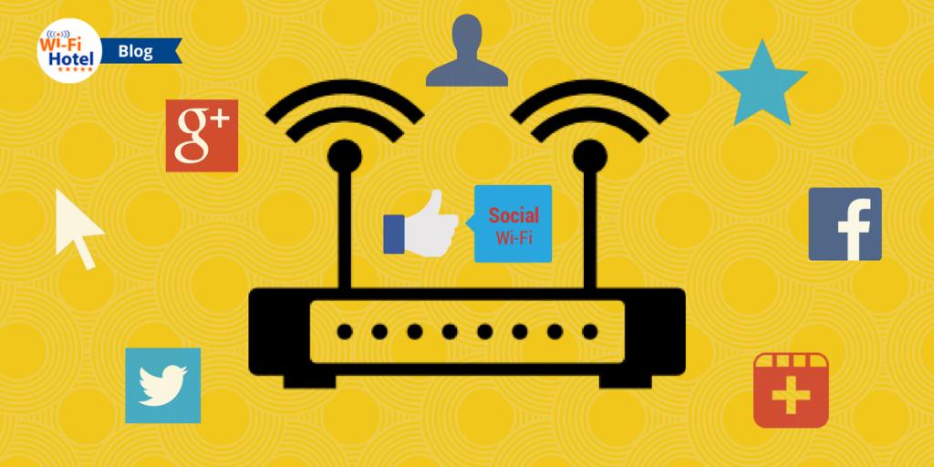 Illustrazione che raffigura il concetto di Social Wi-Fi.