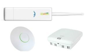 Esempi di access-point utilizzati per installazioni WiFi in alberghi, hotel e strutture ricettive.