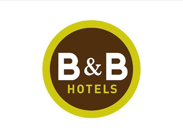 Il logo della catena alberghiera B&B Hotels.