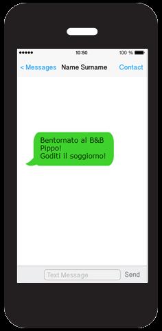 Un SMS visualizzato su smartphone.