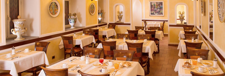 Sala colazioni dell'Hotel Ranieri di Roma