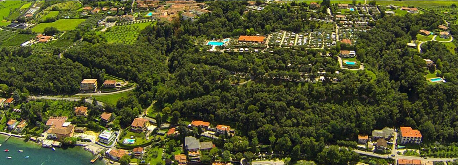 Veduta aerea del Camping Villaggio Weekend.
