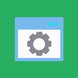 Icona flat di una finestra browser per PC.