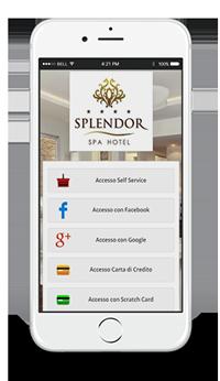 La pagina di accesso di Wi-Fi hotel visualizzata su un iPhone.