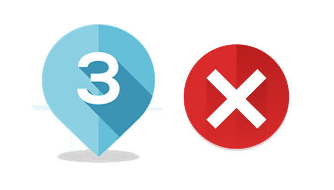 Il numero 3 e il siimbolo dell'errore.