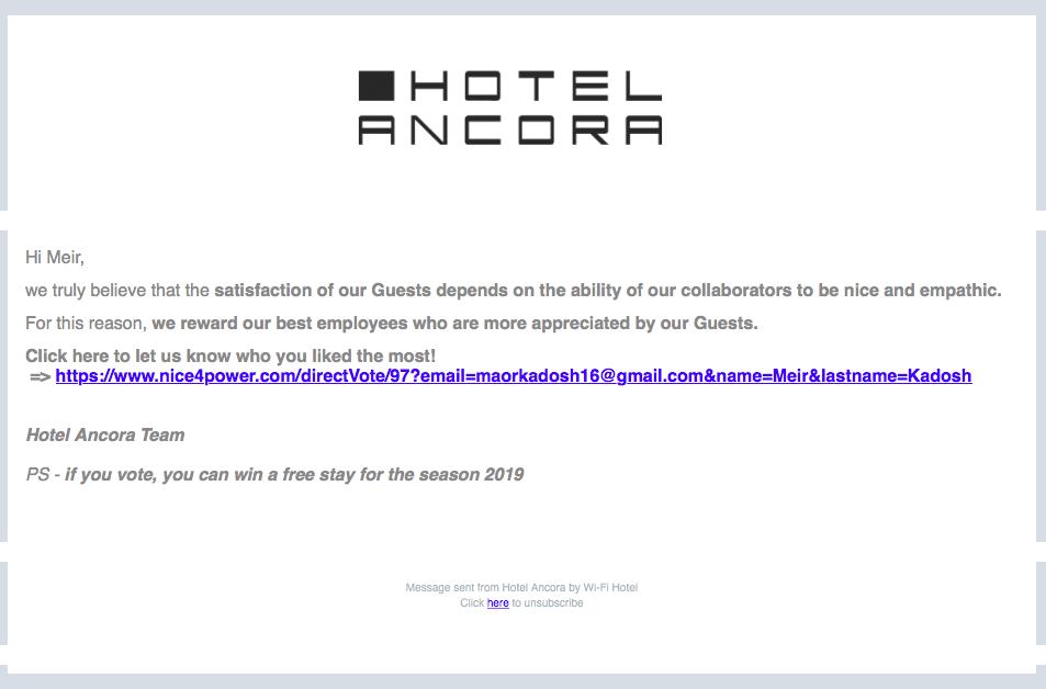 feedback utili per hotel